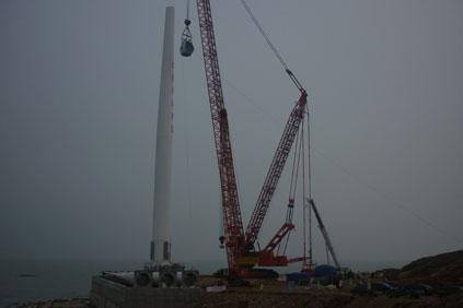 An XEMC 115 being installed