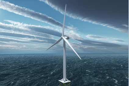 Vestas V164 turbine... the real thing will not be seen until 2014