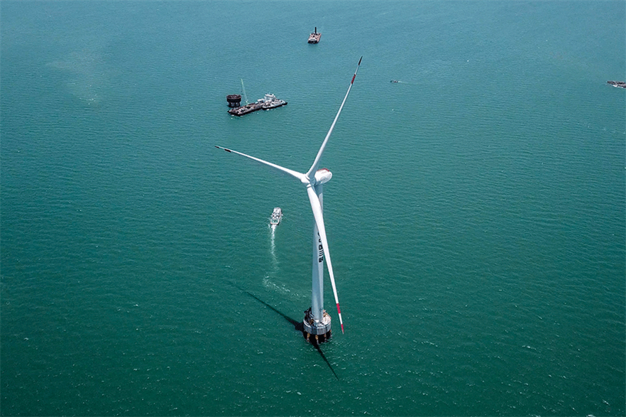 Prototype… Dongfang's 10MW offshore turbine in China