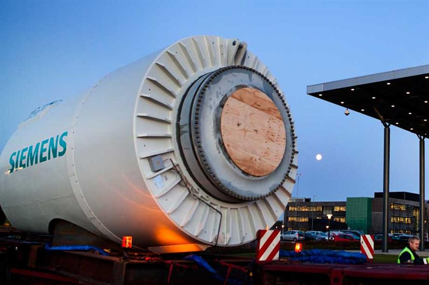 Siemens SWT 3.0 turbine won the 2.1MW to 3.5MW turbine segment
