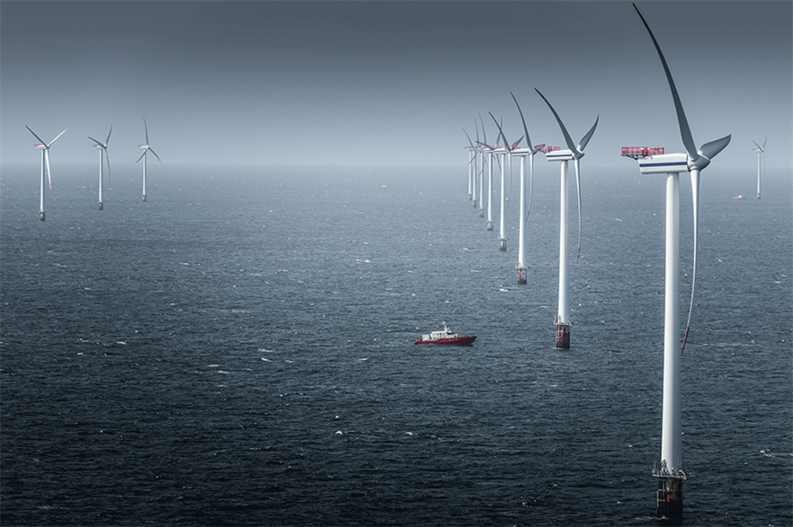Denmark has given go ahead to construct an energy island connecting offshore wind farms in the North Sea (pic: MHI Vestas/Tristan Stedman)