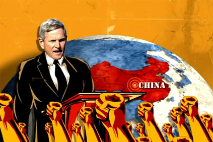 Former Indiana governor was the target of a 'pro-China' ad campaign by a pro-Republican group