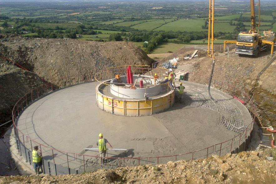 Templederry wind farm in Tipperary was completed in 2012 but the national total was well short of forecasts (pic:Moriarty)