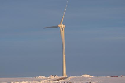 A Goldwind 1.5MW turbine at the Pipestone, Minnesota project