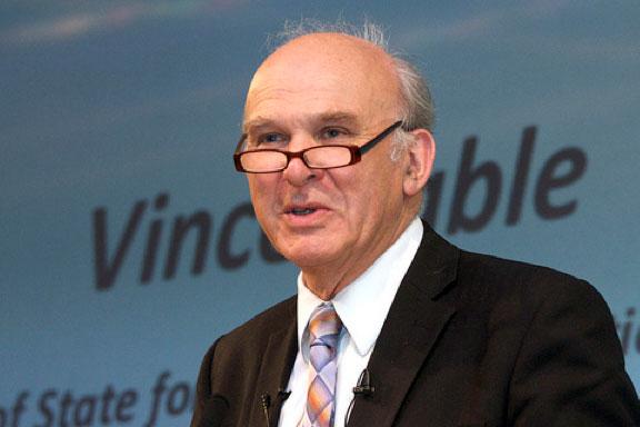 UK business secretary Vince Cable