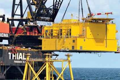 Borwin Alpha. The world's first high-voltage direct converter mounted on an offshore platform