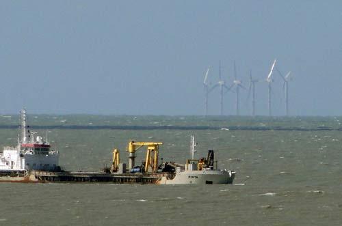 The Thornton Bank wind farm uses Repower 5MW turbines