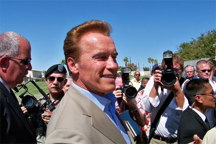 California governor Arnold Schwarzenegger aims to derive 33% of energy from renewable sources by 2020