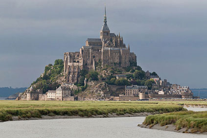 The wind turbines would have been located 20km from Mont St Michel