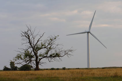 The blade snapped off a Repower 2MW turbine