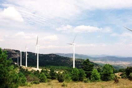 Sierra de Mira wind farm, Cuenca, Castile-La Mancha, Spain