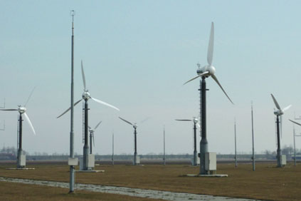 A potential wind farm is tested in Kilkenny, Ireland