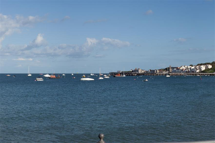 A rendering showing how the project will look from Swanage Bay, Dorset