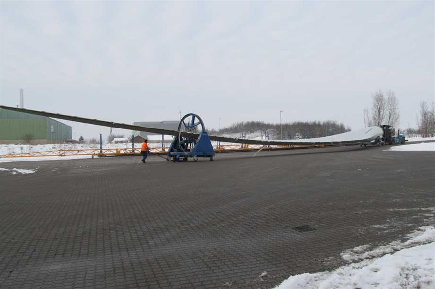 The new turbine has a 120-metre rotor