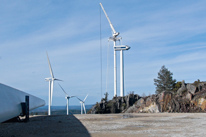 Spain's wind energy generation was helped by projects such as the Cova da Serpe wind park close to the city of Lugo