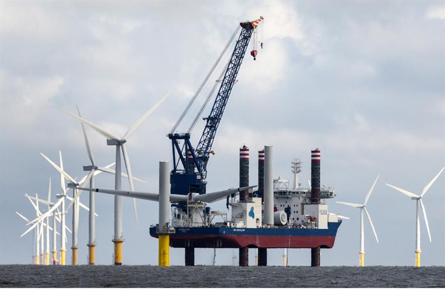 A2Sea's Sea Installer at Gunfleet Sands 3 off England's Essex coast