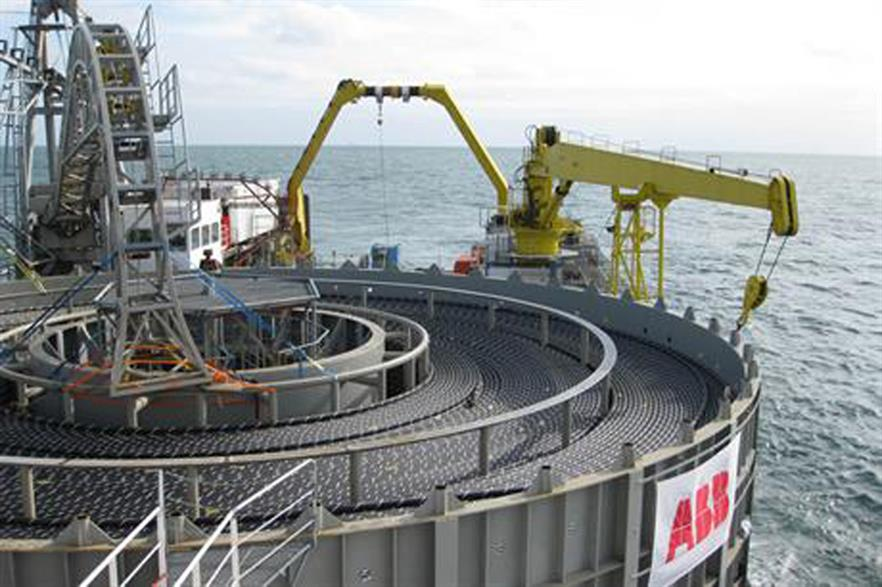 ABB will supply the cable for the transmission link