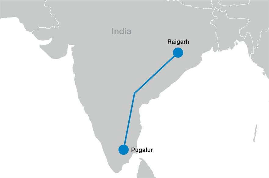 The two-way 800kV link will be able to carry 6GW of renewable energy