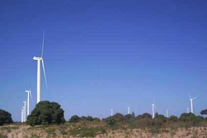 An artists rendering of the 125MW wind farm planned for Taïba Ndiaye