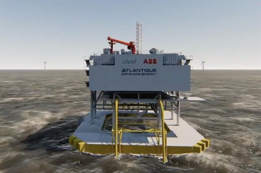 Ideol had previously unveiled a floating substation design in 2019 (pic credit: Atlantique Offshore Energy)