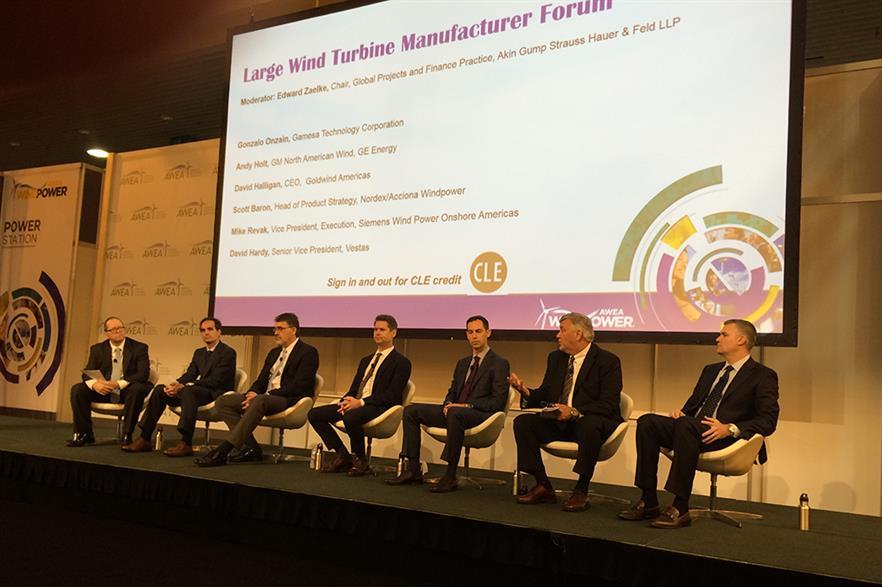 The large wind turbine manufacturer forum at AWEA Windpower 2016