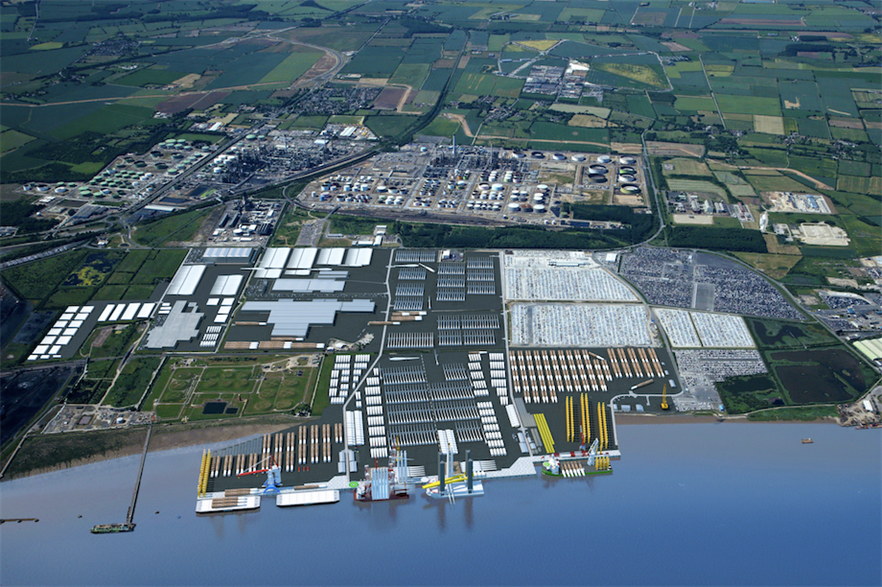 New monopile factory would be built at the planned Able Marine Energy Park on the Humber (pic credit: Able UK)
