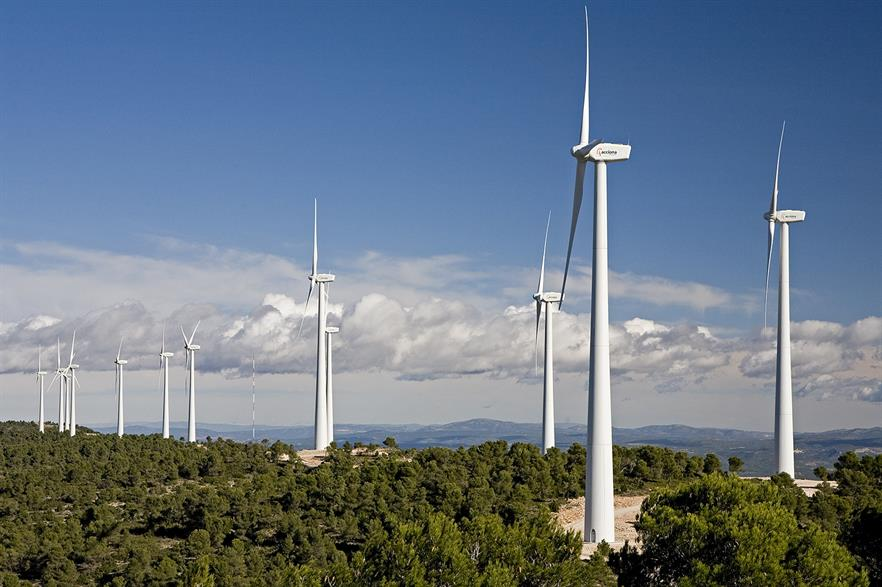 Acciona's turbines in Spain provided an upward adjustment on the country's grid