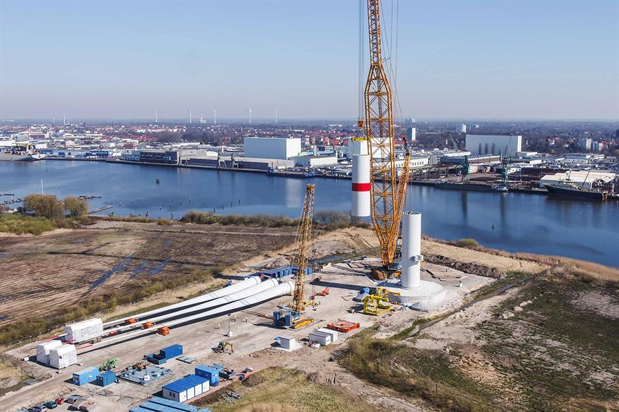 Adwen's 8MW prototype is being installed in Bremerhaven, northern Germany