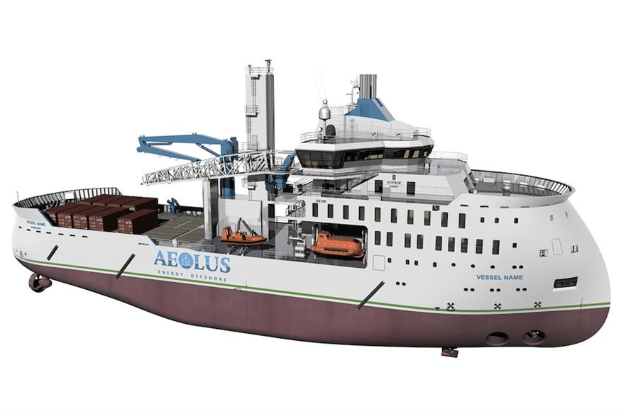 An artist's impression of the SOV being designed by Aeolus and Ulstein