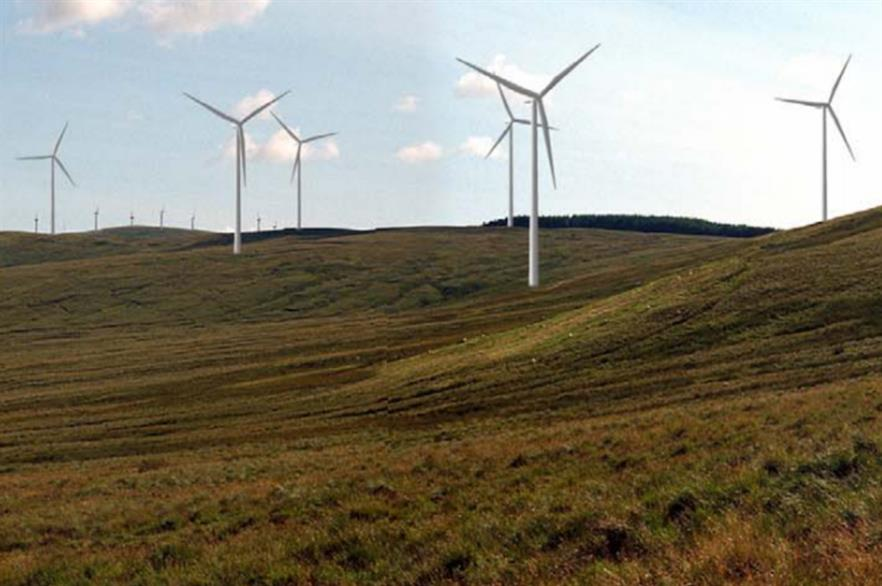 Photomontage computer simulation of what Afton wind farm would look like (pic credit: E.on)