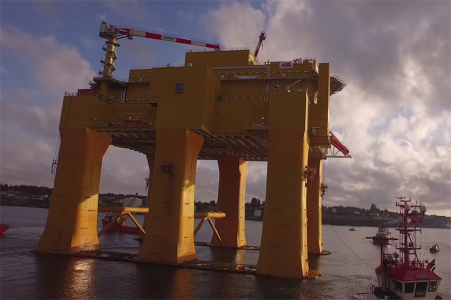 The DolWin Beta platform has been shipped out of Haugesund shipyard, Norway