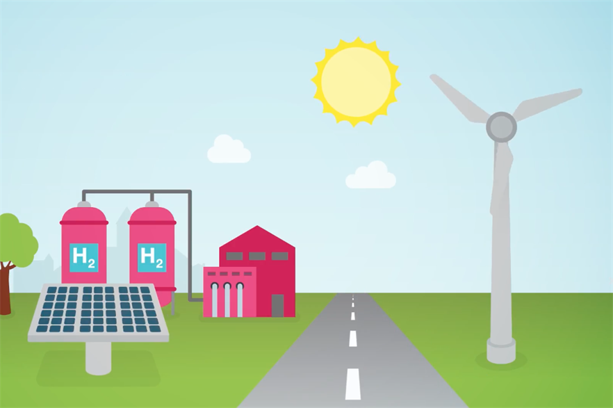 The project will use a mix of wind and solar power to power the electrolyser that produces hydrogen gas