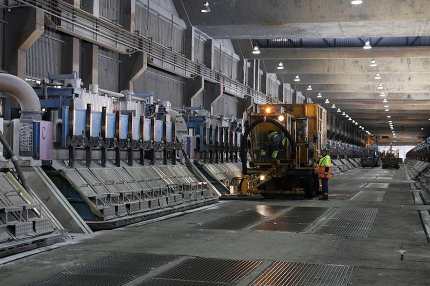 Inside Alcoa's aluminium smelter in Mosjøen (pic: Jarle Vines)