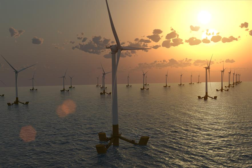The turbine will be assembled in port and towed into position