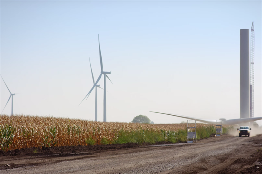 Amazon's 150MW Fowler Ridge wind project in Indiana