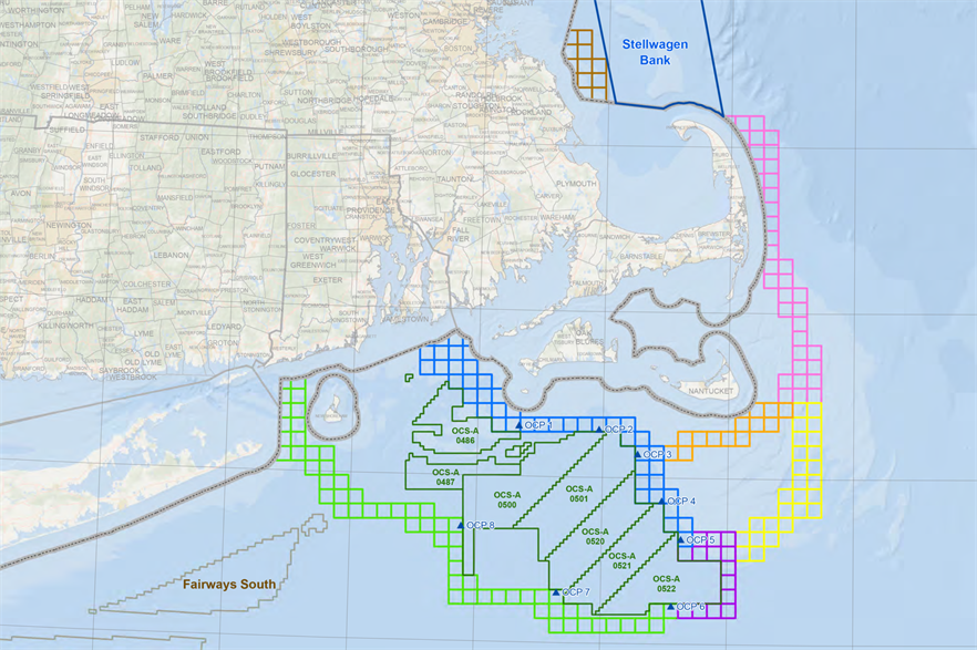Anbaric's plan would connect a number of offshore wind lease areas off the northeast US