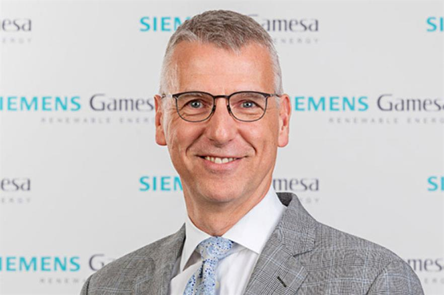Siemens Gamesa CEO Andreas Nauen spoke of his hope that a global vaccine roll-out could limit impacts of the coronavirus pandemic on his company