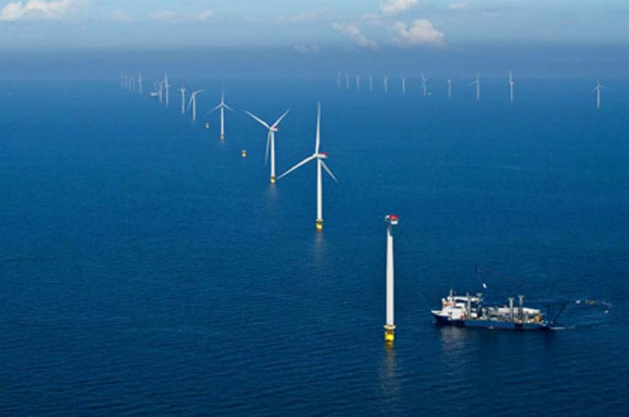 Dong's Anholt offshore wind farm came online during the period