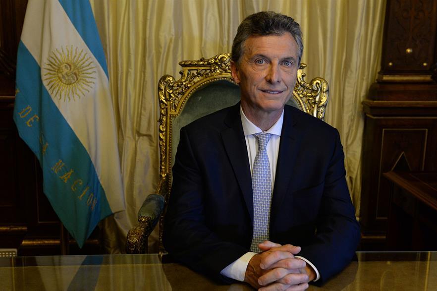 New Argentine president Mauricio Macri