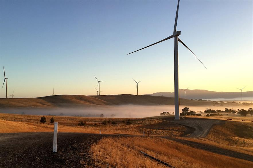 The 75-turbine 240MW Ararat wind farm is one of several large-scale projects commissioned in Australia this year