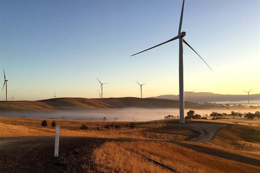 The 240MW Ararat wind project in Victoria, Australia