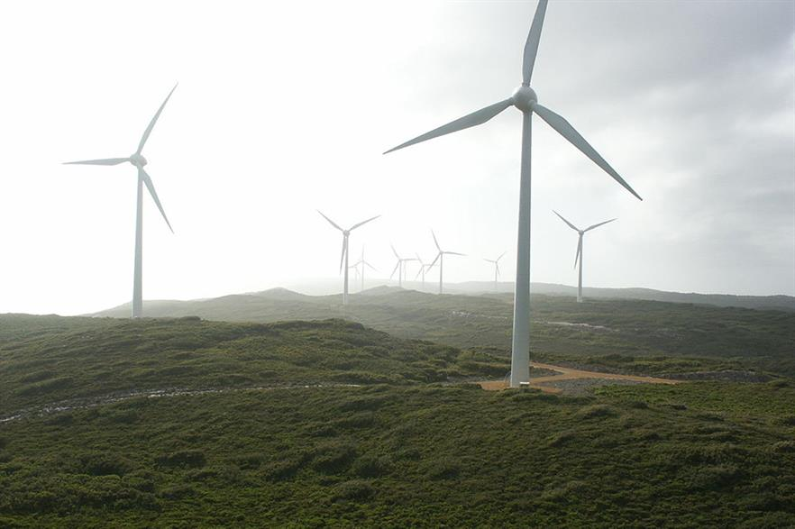Verve Energy's Albany wind project in Western Australia
