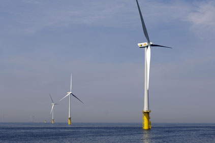Egmond aan Zee, the Netherlands, has 36 turbines and generates up to 108 MW