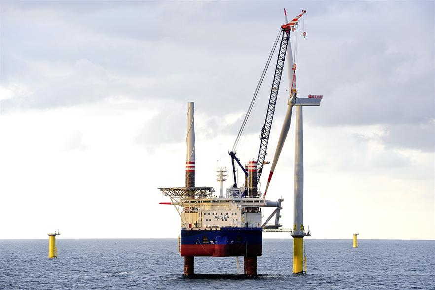 The final Siemens 4MW turbine has been installed at Borkum Riffgrund 1