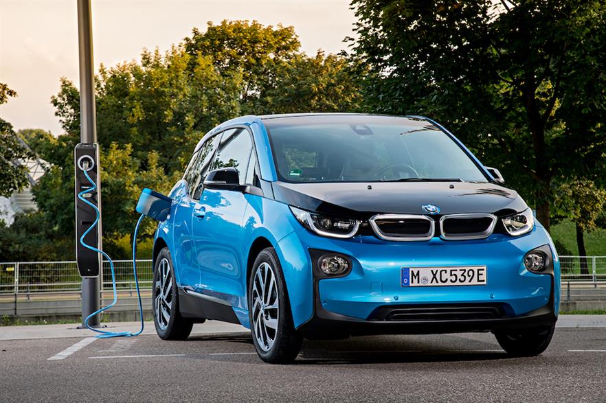 For the same capital outlay today, new wind and solar PV projects in tandem with battery-powered EVs will produce 6.2-7-times as much energy that can be used for transport, than petrol (pic credit: BMW)