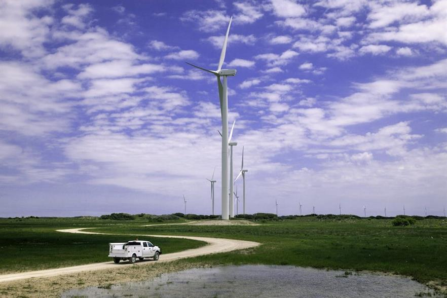 Baffin Wind Farm, Avangrid Renewables' nearby south Texas coast neighbour to what will be the Karankawa wind farm (pic credit: Business Wire)