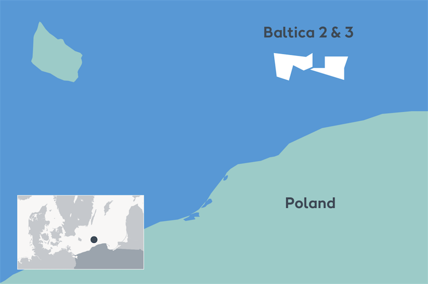Baltica 2 and 3 are due to be built off the coast of Łeba in the north-eastern Pomerania province