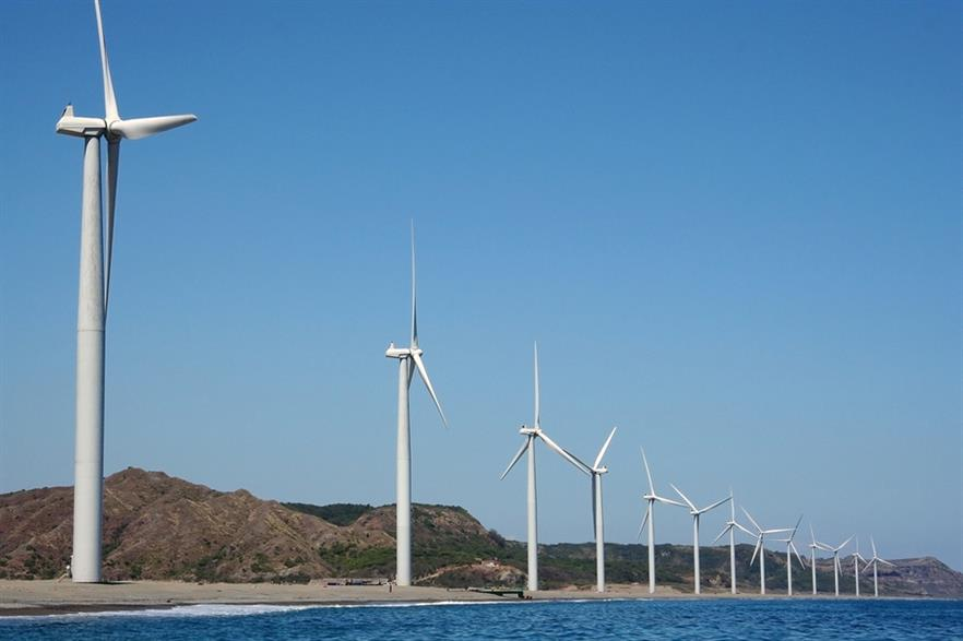 The 33MW Bangui Bay project is the only wind farm operating in the Philippines