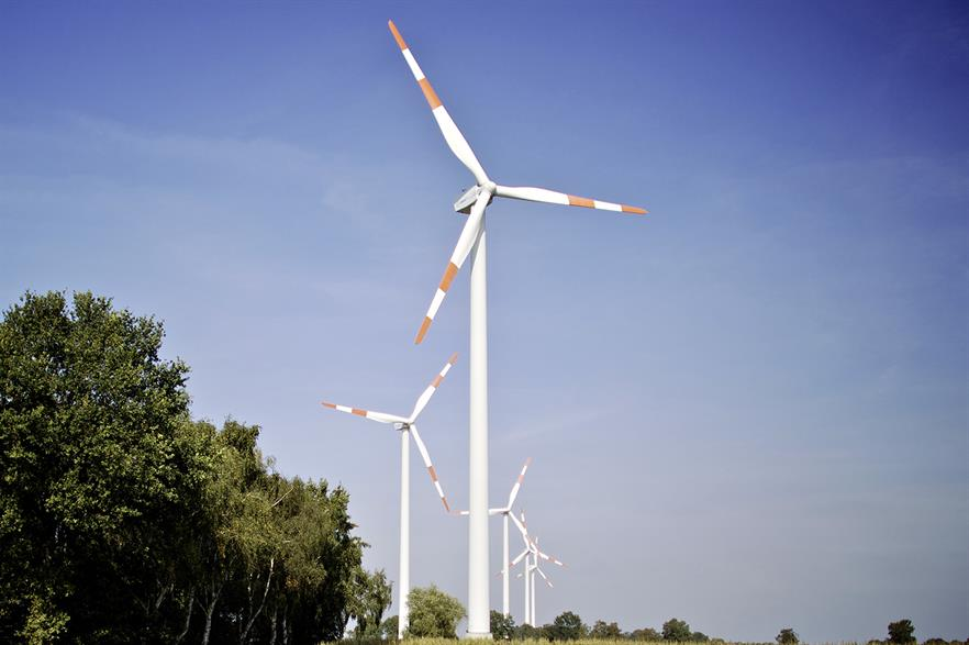The Bassum wind farm is one of the six projects that will supply renewable electricity to Mercedes-Benz in a corporate PPA signed in December (pic: Daimler AG / Windwärts / MarkMülhaus)