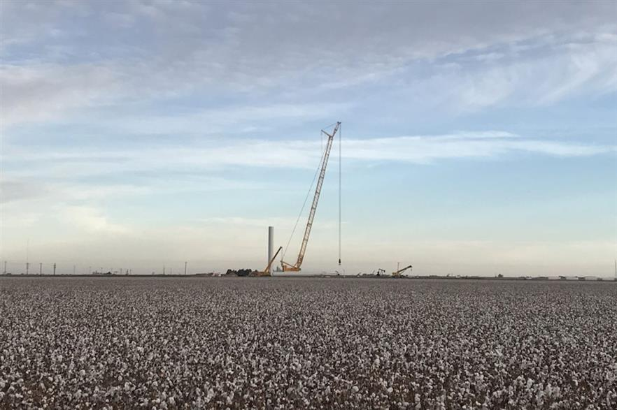 Copenhagen Infrastructure Partners' Bearkat I wind farm in Texas, United States (pic credit: Global Wind Service)